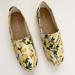 Esprit lemon print canvas sneaker